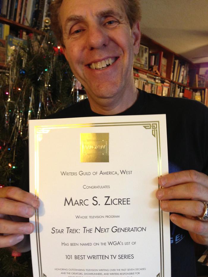 Marc's Certificate For 101 Best Written Series