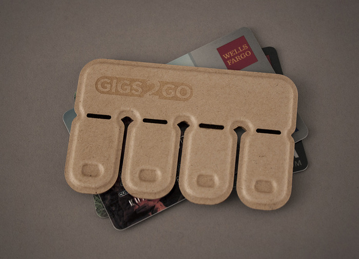 The Gigs 2 Go pack is the size of a credit card