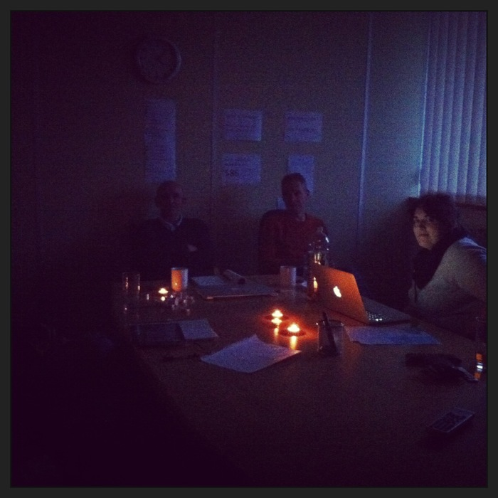 When the power went out we resorted to candles.