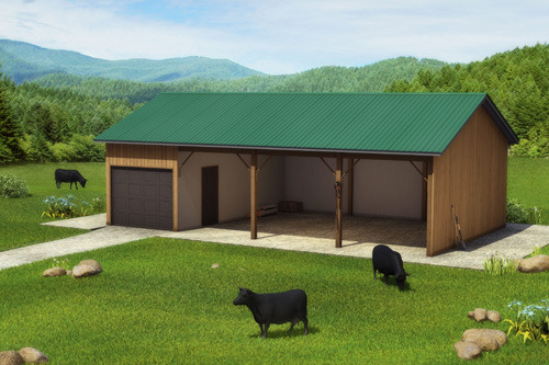 Organic cattle ranch by teddy bolkas kickstarter for Three sided shed plans