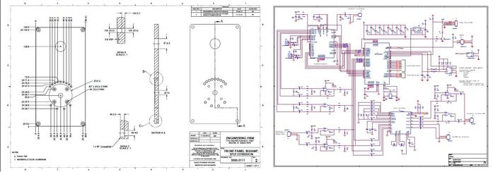 Mechanical drawings and schematics