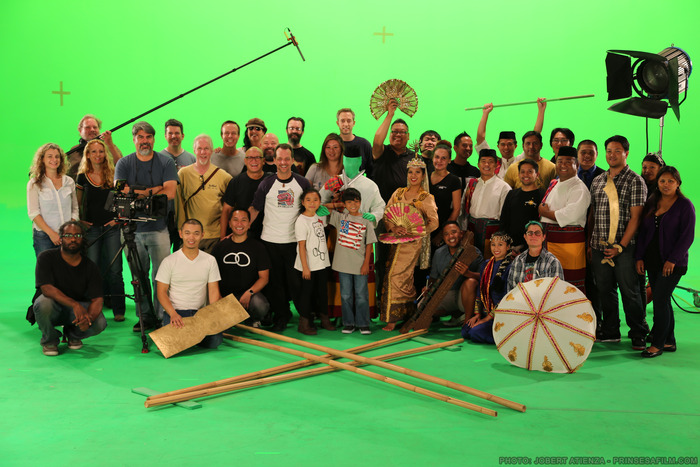 "The cast and crew of ""Prinsesa"" at world-famous 32Ten Studios"