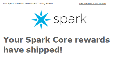 Spark Rewards have shipped!