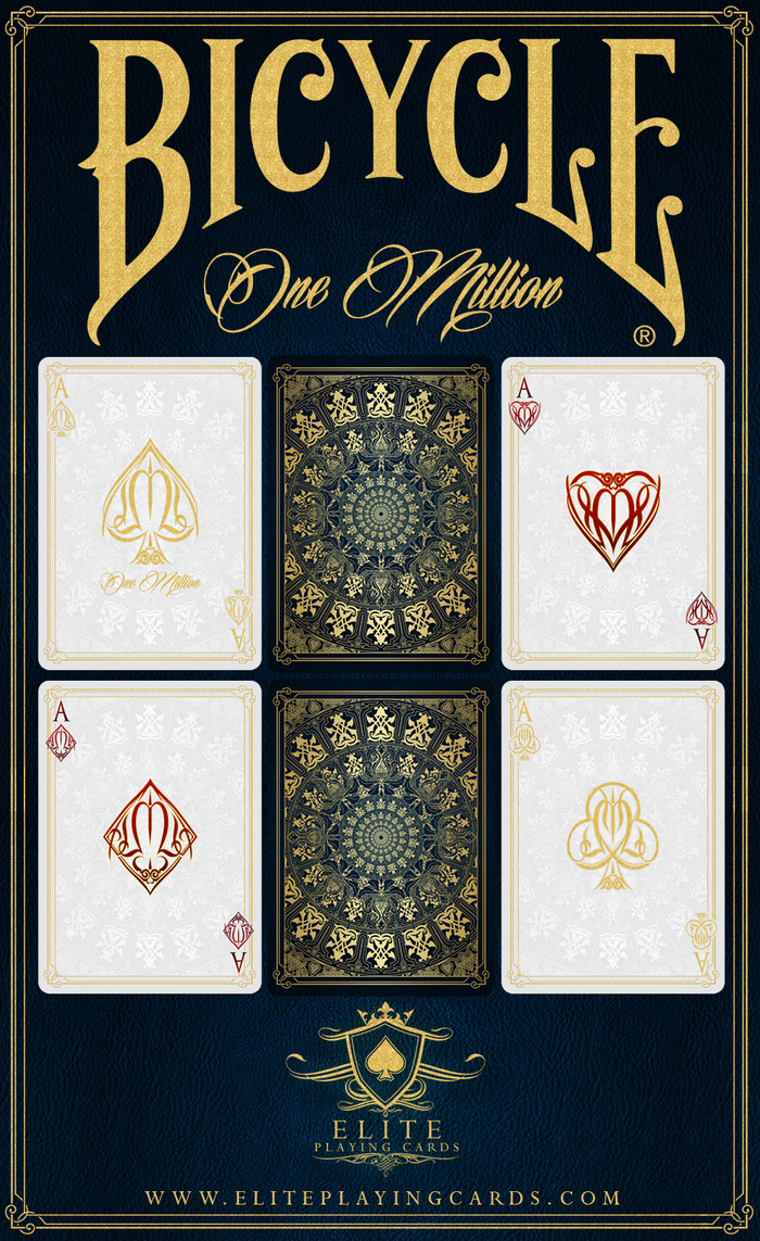 Card Deck With Guidebook By: One Million Bicycle® Playing Cards Deck By Elite Playing