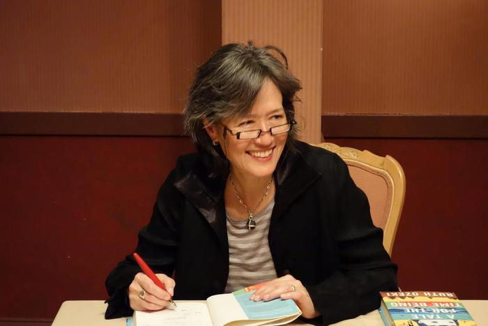 Ruth Ozeki, author, Tale for the Time Being, short-listed for 2013 Booker Prize for literature