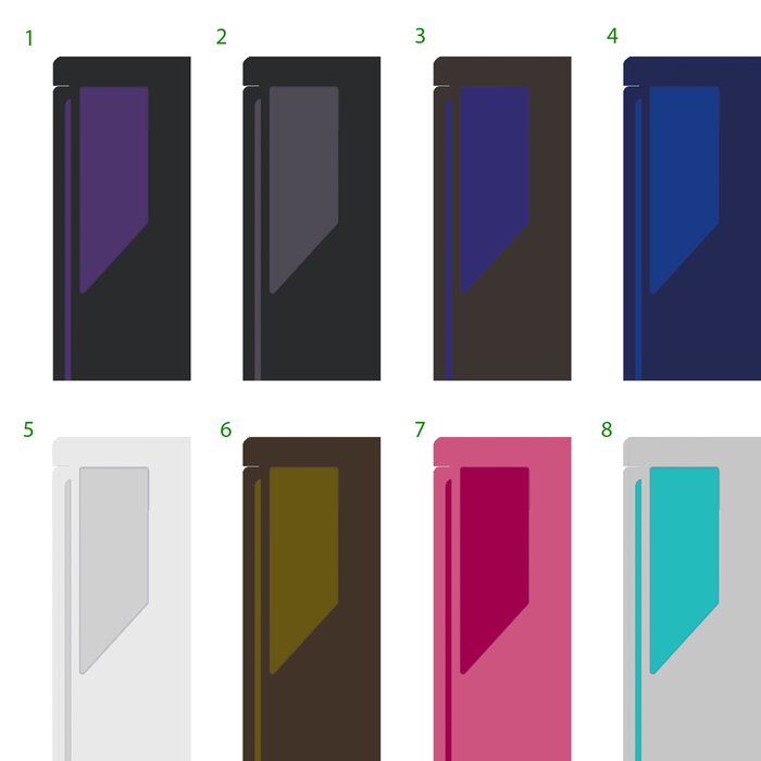 Swatches of possible colour options