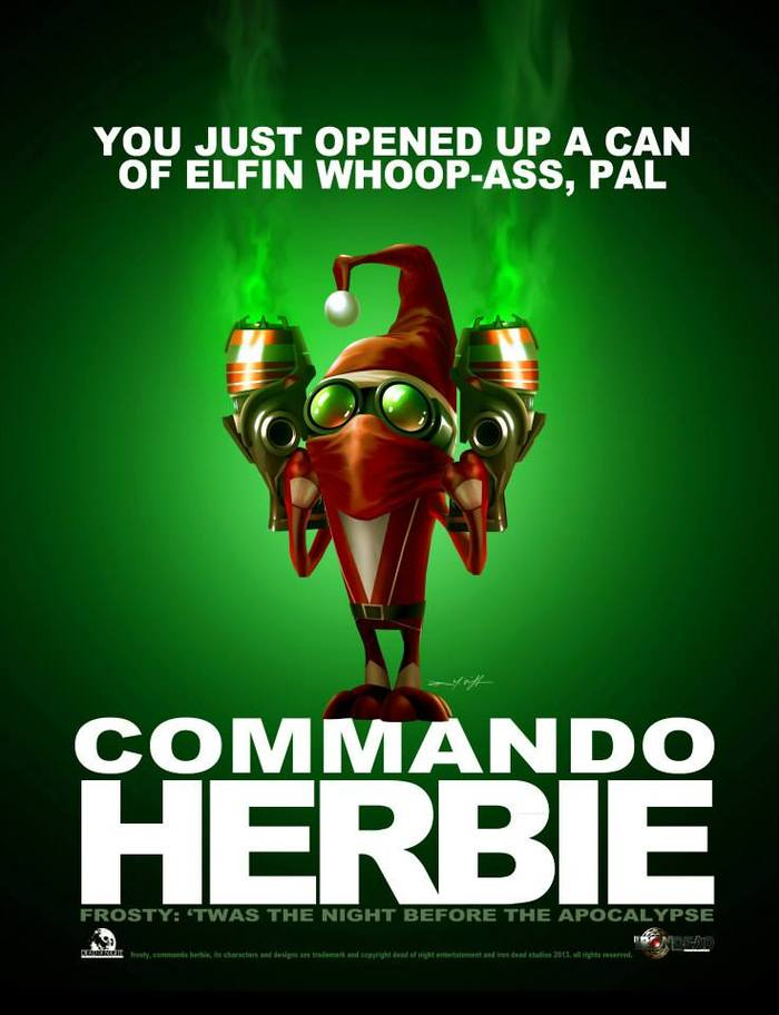 COMMANDO HERBIE. Trademark and copyright Dead of Night Entertainment and IRON DEAD STUDIOS 2013. All rights reserved.