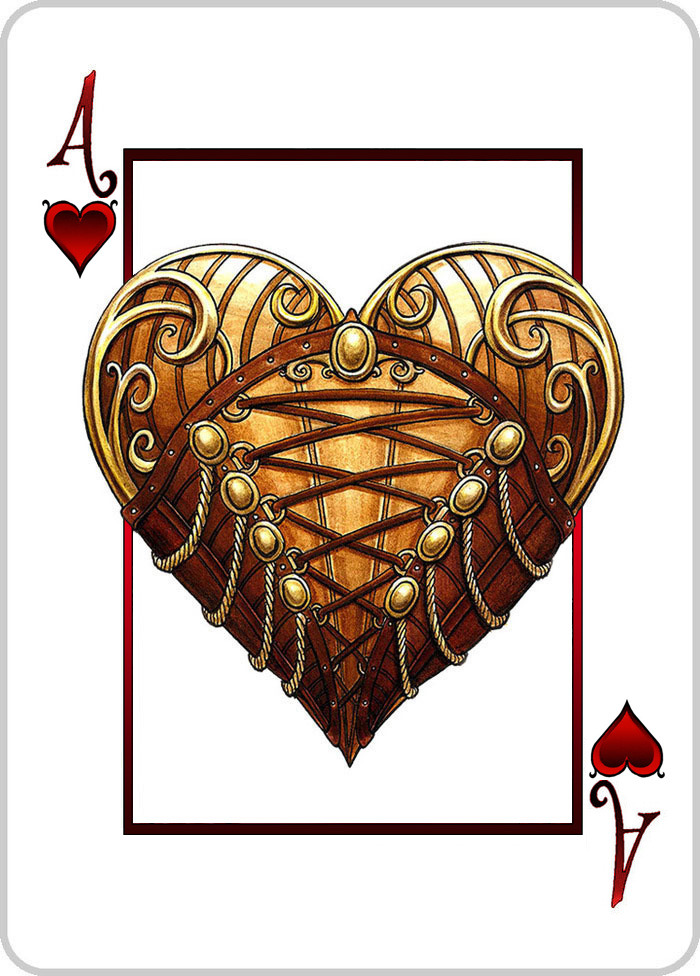 Ace of Hearts - Heart in a Corset - CLICK TO PIN