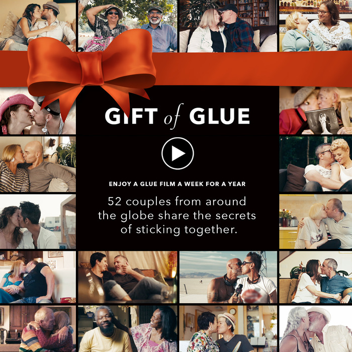 """Gift of Glue"" e-card for backers in the sharing spirit."