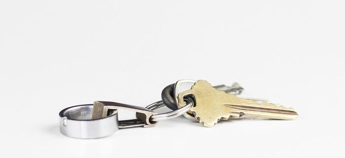 RingSafe worn on keychain