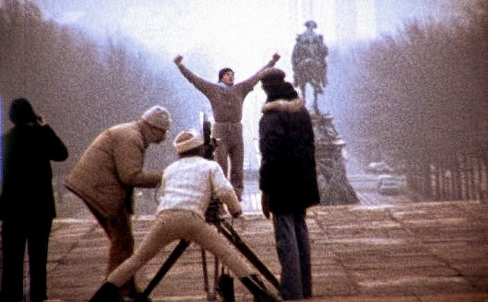 "Avildsen on the camera filming one of the most iconic scenes in the history of cinema, ""Rocky"" (1976)"