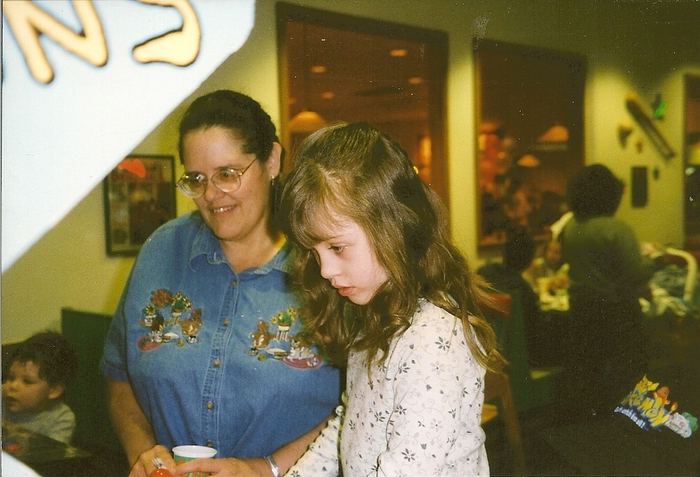At the Arcades (When I was 8) with my grandmother: Marla