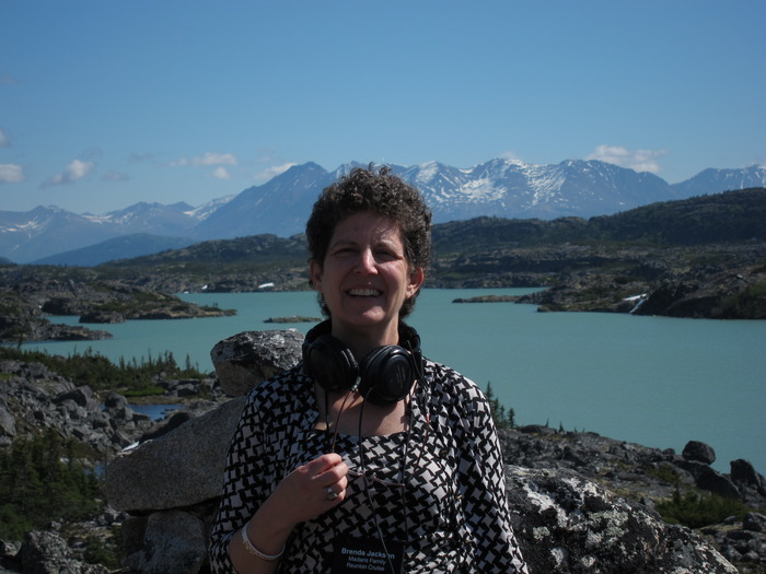 me, enjoying the mountains near Skagway, Alaska!