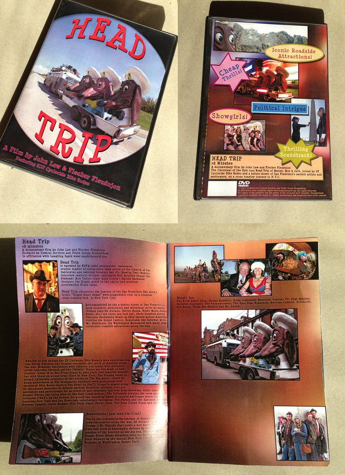 The video comes with a full-color booklet, 20 pages long, stuffed with info & pix.