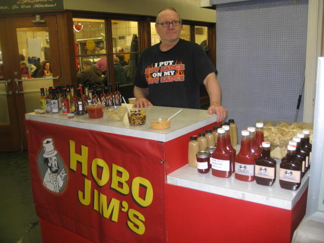 Jim at our local farmers market