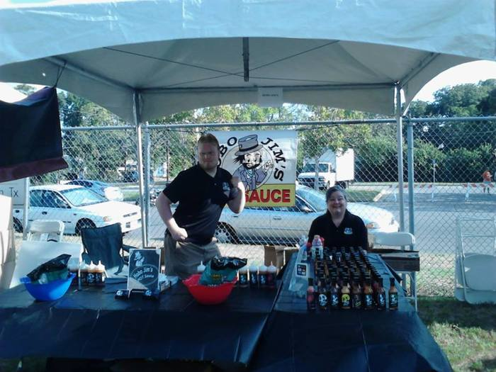 Josh and Kathy at the Austin City Chronicle hot sauce festival 2013