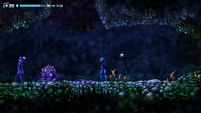 This guy is in a deep sleep, but can be awakened if you're not careful. The flowers here will also be move-y