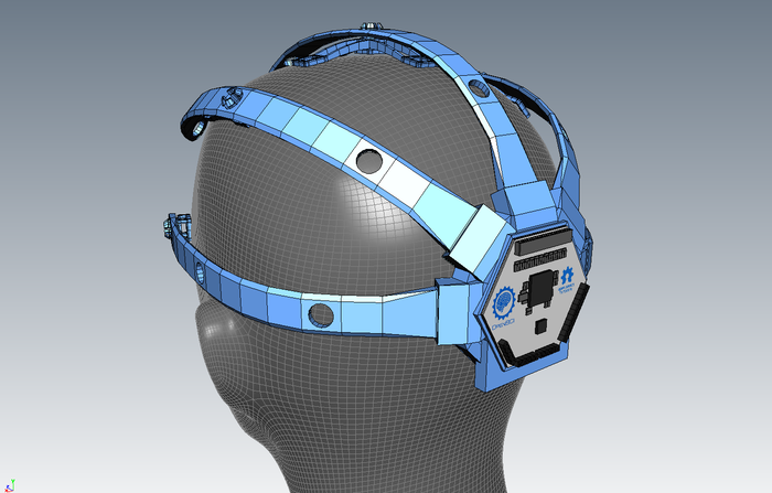 A digital prototype of the OpenBCI 3D-Printable Headset