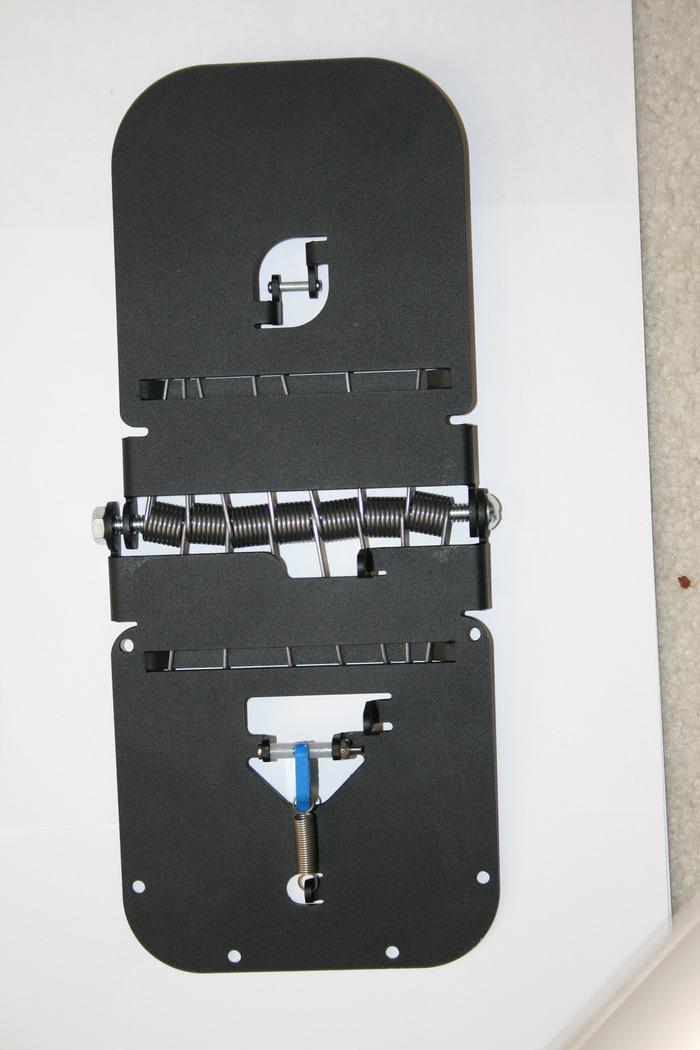 Assembled RhinoForce S2 built using aluminum with black powder coat finish.