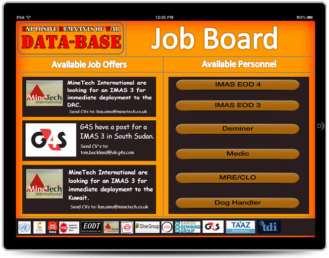 An industry job board allows the connection of both companies and available contractors or potential employees.  Members only will be able to access this area.