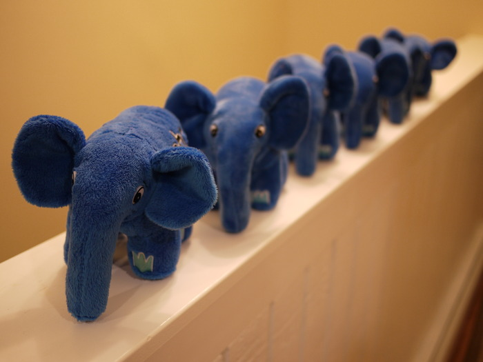 Blue elePHPants on parade