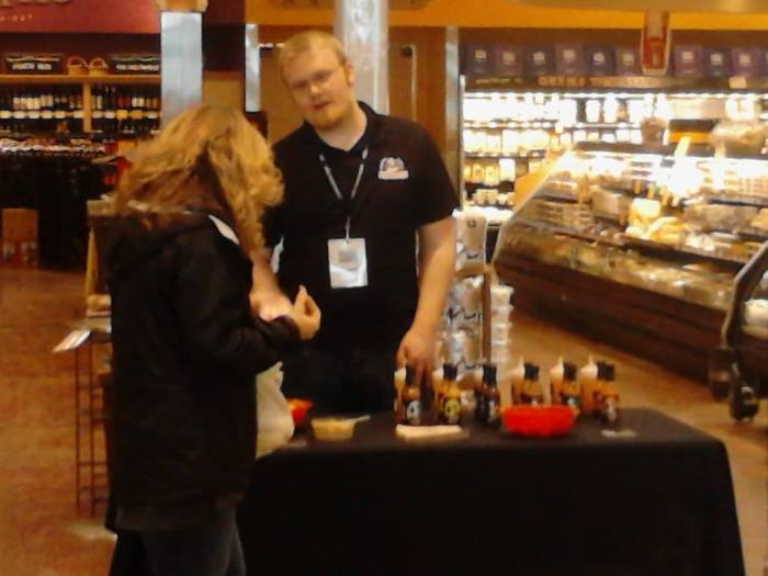 Josh doing a demo at Whole Foods
