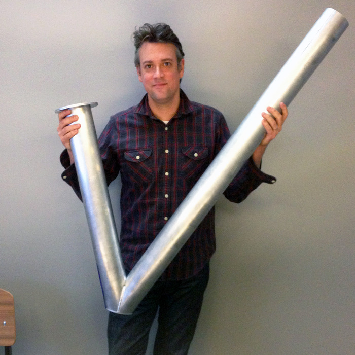 The first full-scale aluminum prototype tube