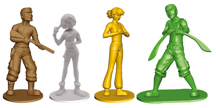 A 3D Rendering of the Miniatures.