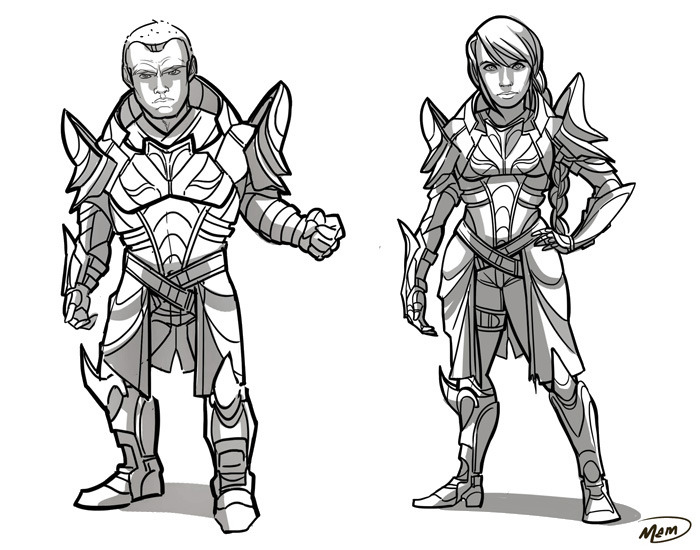 Armor pieces will automatically fit your race, gender, and pose!