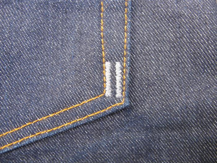 Back pocket detail.