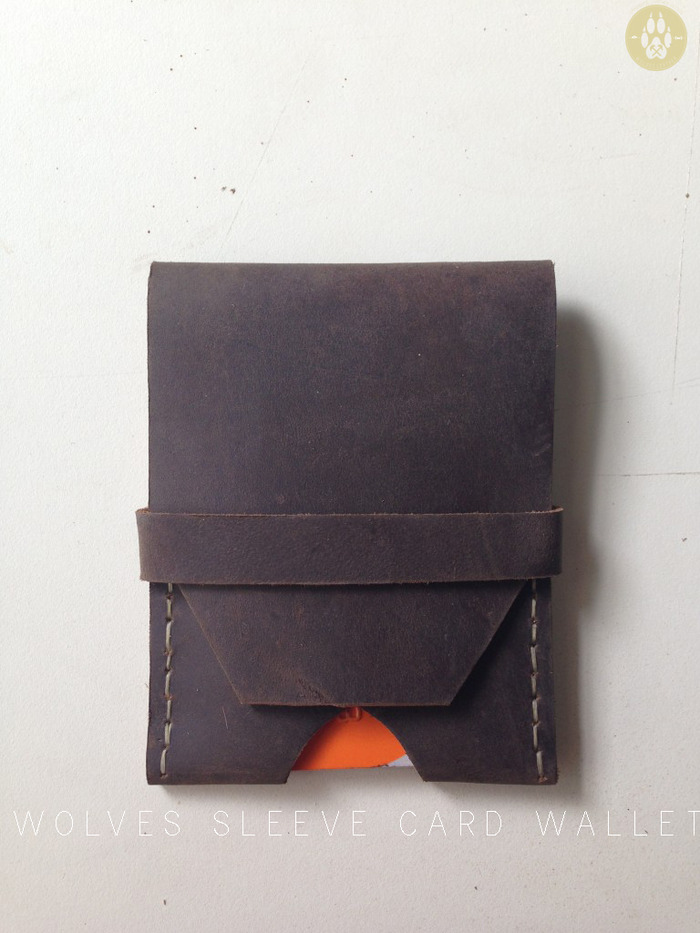 The Wolves Sleeve Card Wallet is simple, durable, and reliable. It fits comfortably in your pocket and is easy to use. It holds up to 15 cards and a nice wad of cash. Hand stitched