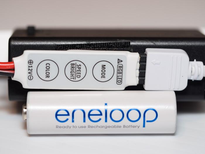 Litebrush Pro Remote (Battery shown for scale)