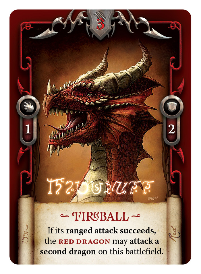 Final dragon card design