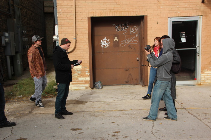 On the set of A Finger Slip: The Webseries.