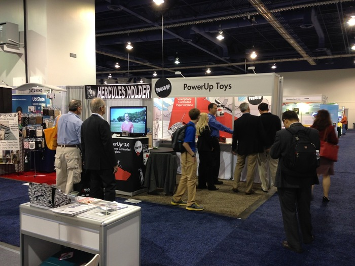 My busy booth got people's attention for the whole week at CES. Recognize the guy on the TV screen? ;)