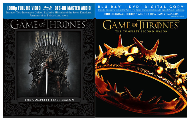 Choose one of the first two seasons of Game of Thrones, on either blu-ray or DVD, for AMRITA ACHARIA to sign. Or choose both!