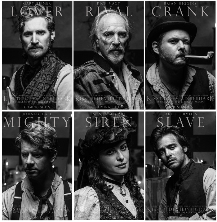 GARY REIMER (Redemption), RICK MACY (Comatose Mother), BRIAN HIGGINS (The Boys at the Bar), JOHHNY CALL (HitRECord), SONYA MACARI (The Artist), and JAKE STORMOEN (Mythica) star as Owen, Alexander, Jonathan, Charles, Vanessa and Edgar.