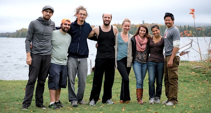 The entire crew (5 people including me) and the lead cast of 'UNNERVED' (L to R: Chad McClarnon, Cory Maffucci, Rick Gizzi, Mark DiConzo, Katie Morrison, Elena Sanz, Susie King, Gary King)