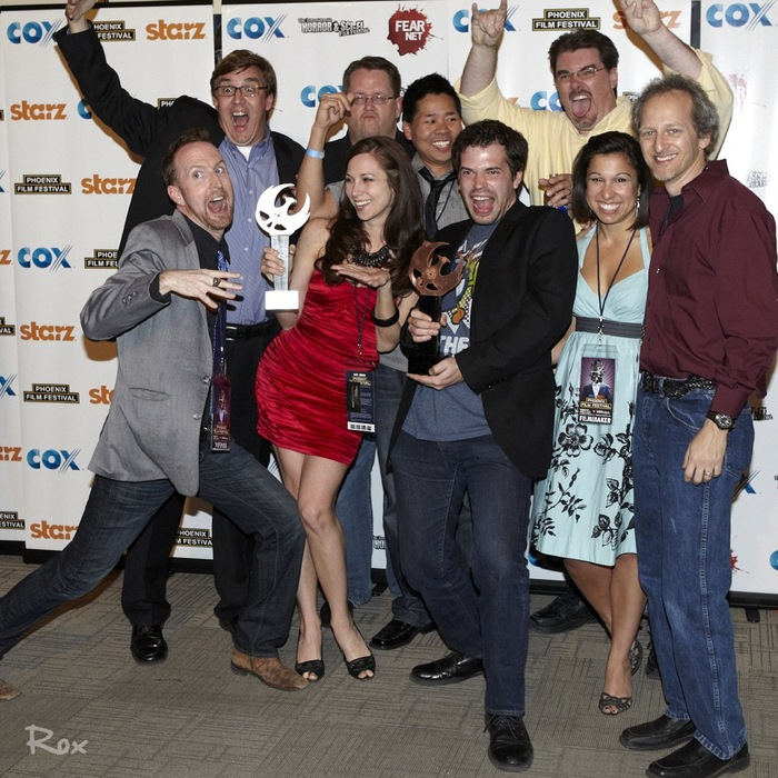 'SCHERMANN SONG' team winning the 'Audience Award' at the 2012 PHOENIX FILM FESTIVAL