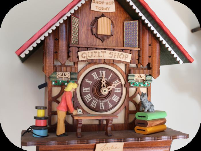 Quilt Shop Cuckoo Clock By Jodie Davis Kickstarter