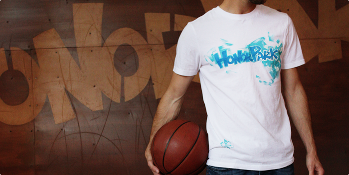 Custom hand painted shirts: Each is a one of a kind original tee.