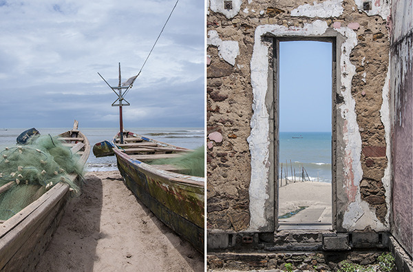 L: Fishing Boats. R: Doorway. Ghana