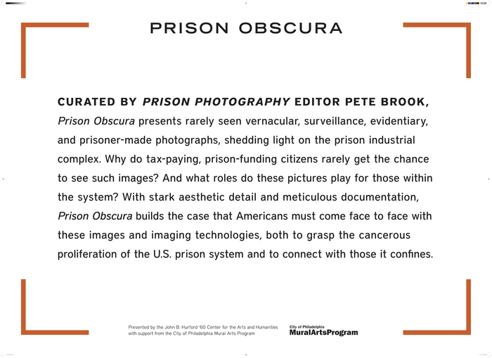 Graphic design for 'Prison Obscura' by Ellen Gould