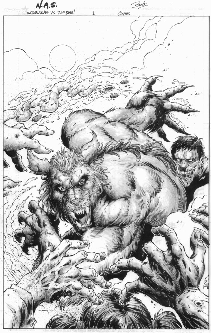 Original Pencil and Inked Cover by: Richard Bonk