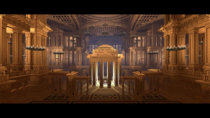 A colossal central-plan sanctum centered around a reliquary