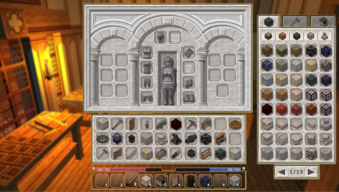 Armor and personal inventory interface