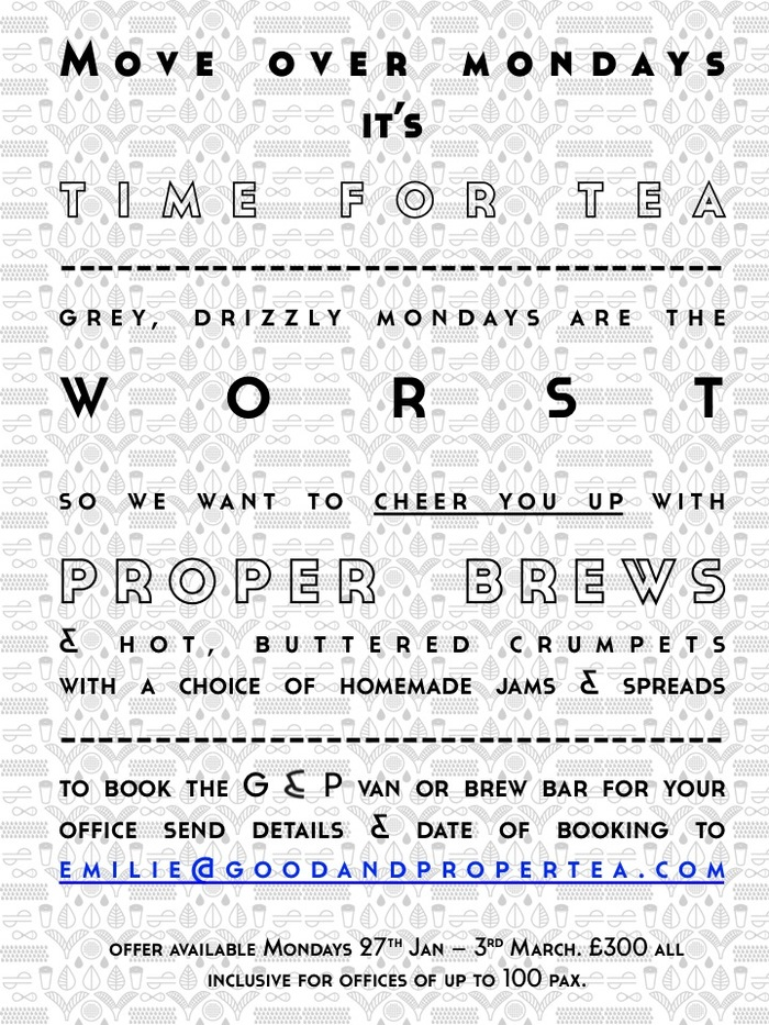 G&P launches Tea-Time Mondays
