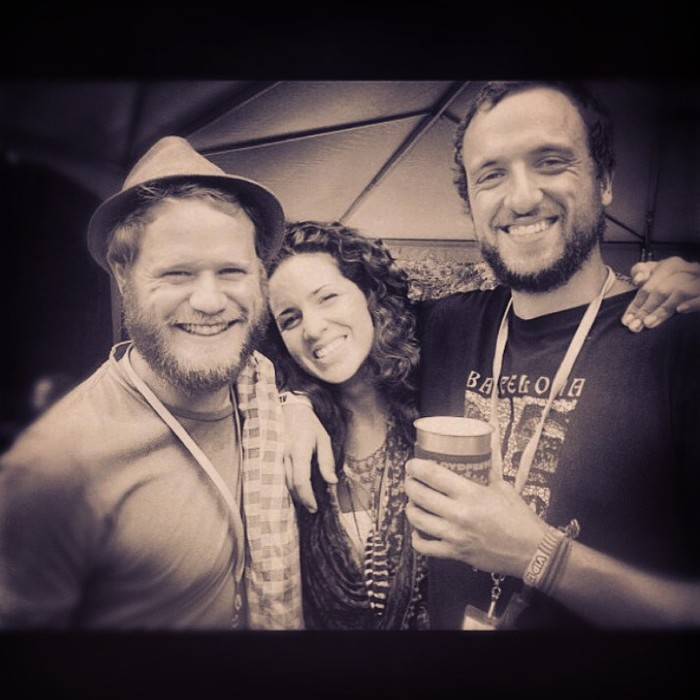 Whetherman at Floyd Festival 2013: (Left to Right) Nicholas Williams, Rachel Murray, JP Salvat