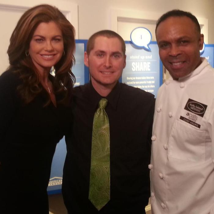Kathy Ireland, Chef Andre Carthen and I at Dream Camp in Madison Wi.