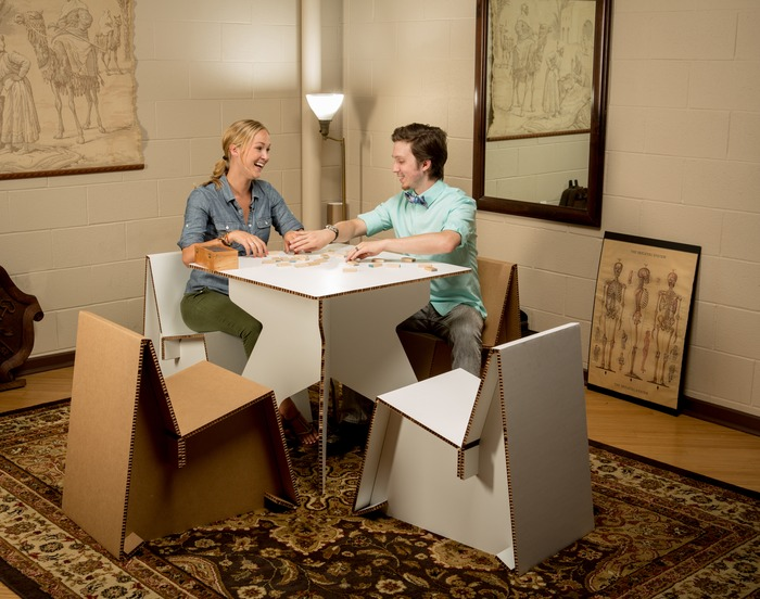 Flatgoods - Game Room Setting (Square table, Adult Chairs)